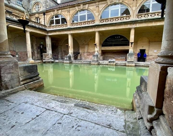 View of the beautiful waters in the Roman Baths