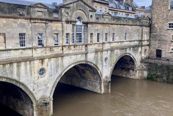 River Avon running through the city of Bath, England, United Kingdom