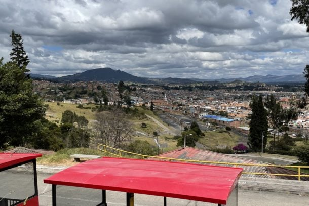 Beautiful view of the city of Bogota, Colombia