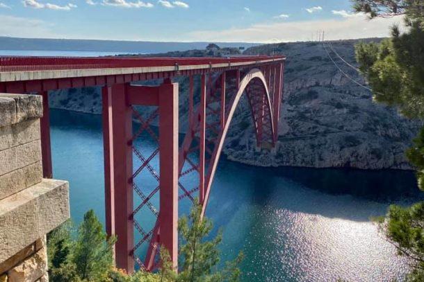 Maslenica Bridge in Croatia