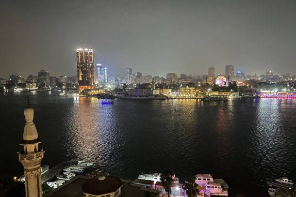 Beautiful view from the dinner cruise of the Nile River