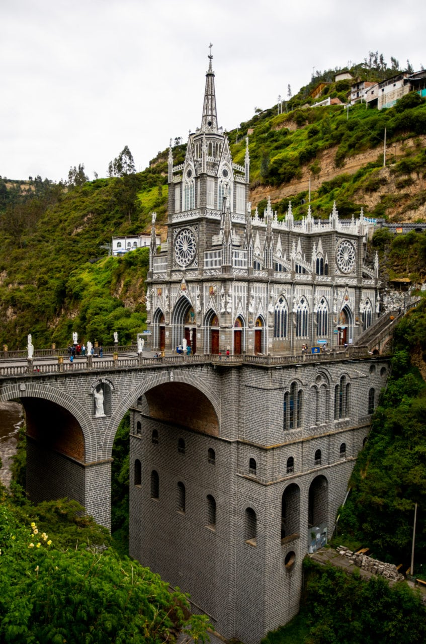 The bridge and entrance to Shrine of Our Lady of Las Lajas