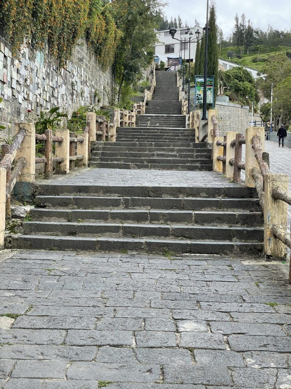 Stairs in Ipiales near Our Lady of Las Lajas