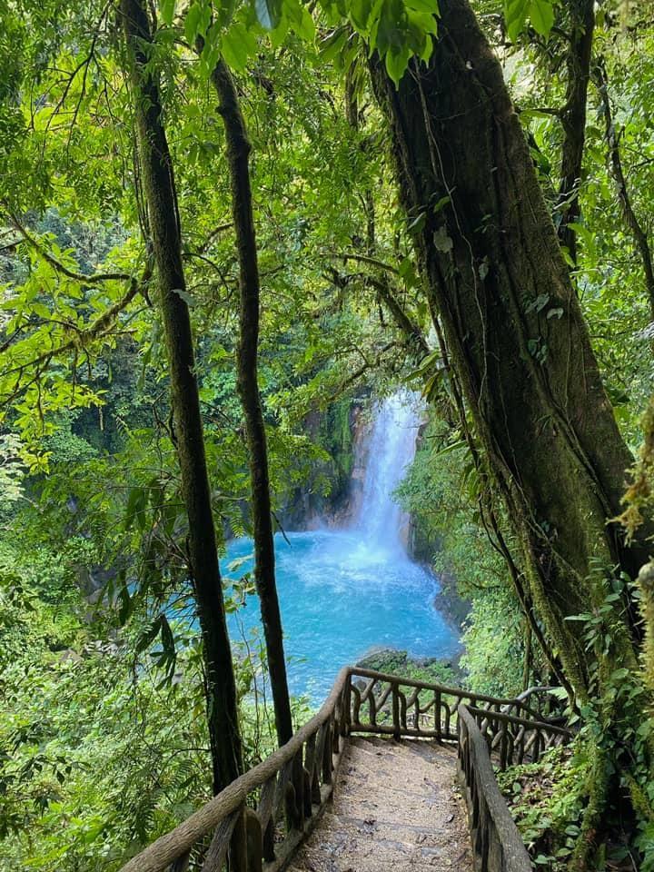 Blue waterfall in Tenorio, Costa Rica