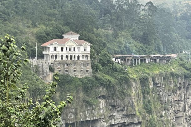 Tequendama Falls Museum by cliffside in Columbia
