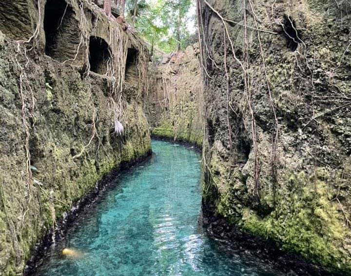 Beautiful turquoise waters inside Xcaret theme park