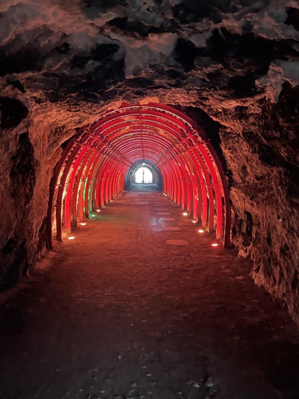 Beautiful cave leading into underground sanctuary