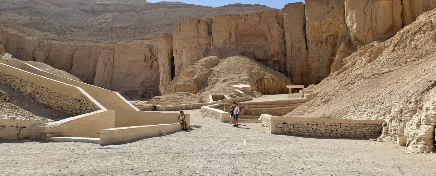 Incredible view of the tombs in the Valley of the Kings