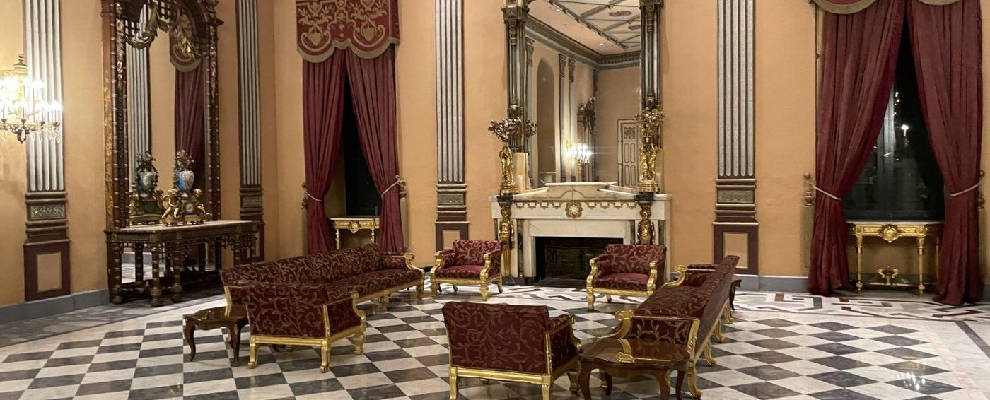 Grand lobby inside the Cairo Marriott Hotel and Casino