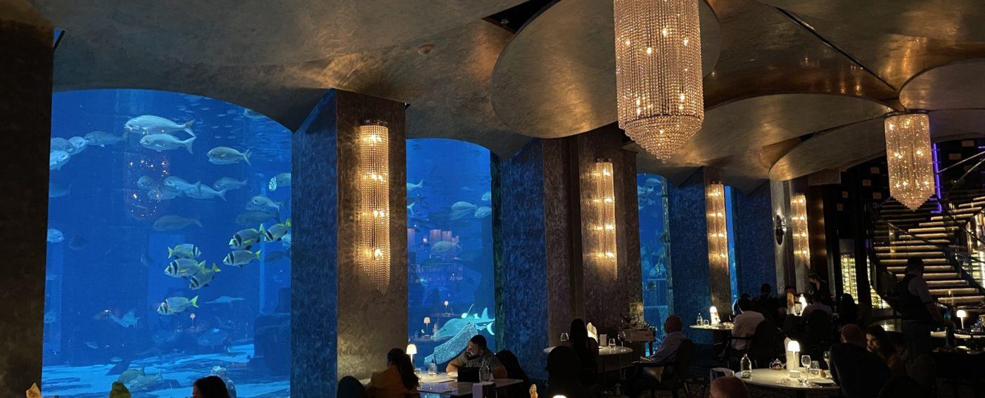 The Ossiano restaurant with an amazing aquarium