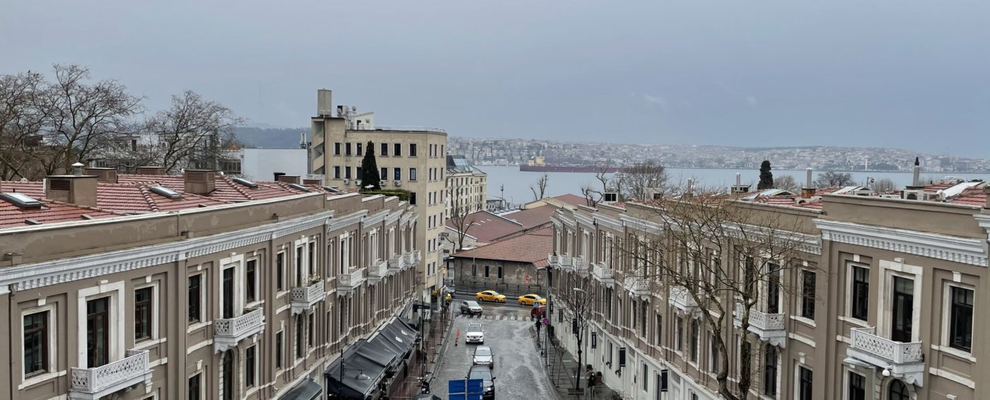 Amazing view of Istanbul from our terrace in the W hotel