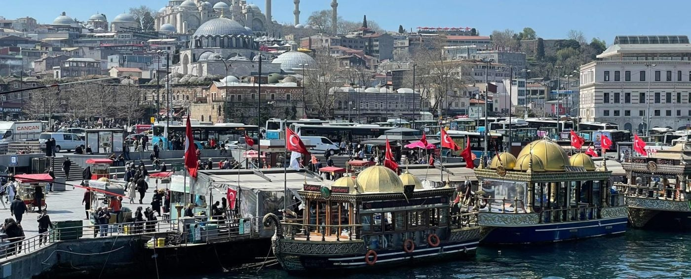 Amazing view of a beautiful mosque in Istanbul Turkey