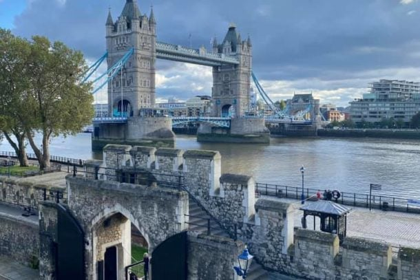 View of the exquisite Tower Bridge in London, England