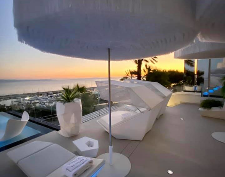 Beautiful view from the Posh Suites hotel balcony in Split, Croatia