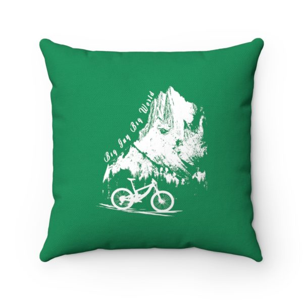 Emerald Embrace the Journey Spun Polyester Square Pillow