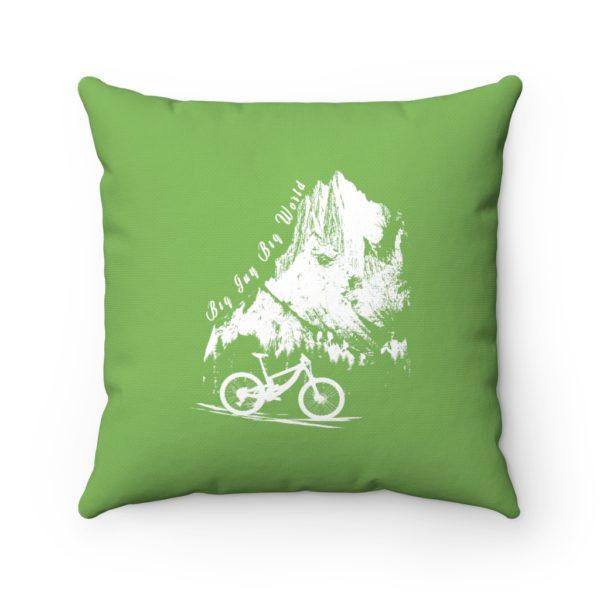 Green Embrace the Journey Spun Polyester Square Pillow