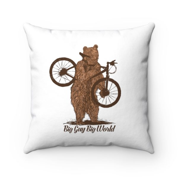 White They See Me Rollin Spun Polyester Square Pillow