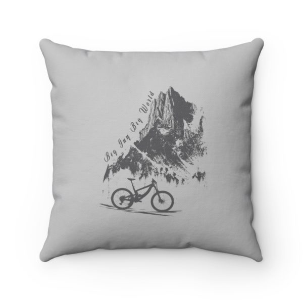 Gray Embrace the Journey Spun Polyester Square Pillow