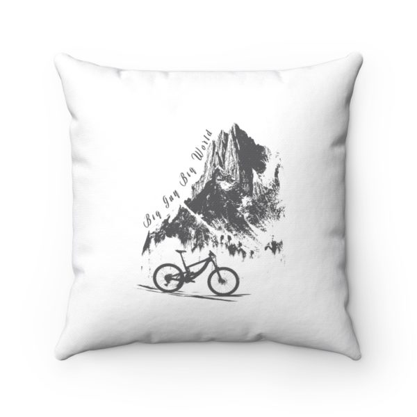 White Embrace the Journey Spun Polyester Square Pillow