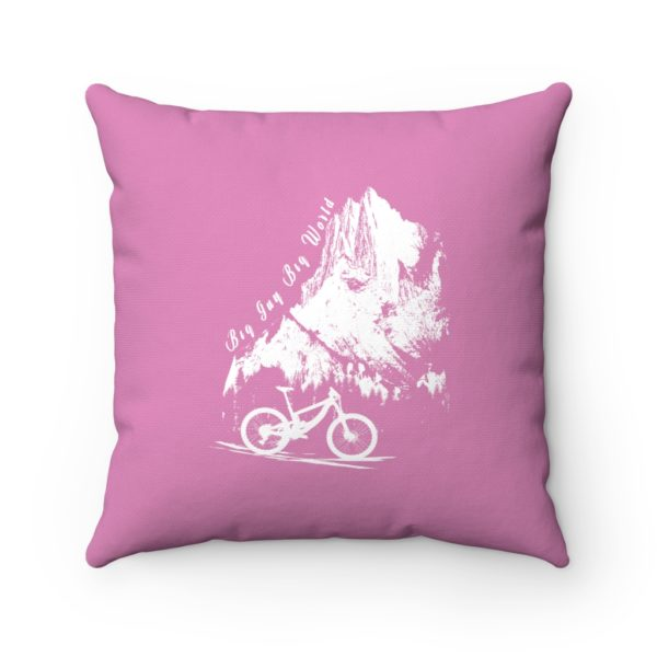 Pink Embrace the Journey Spun Polyester Square Pillow