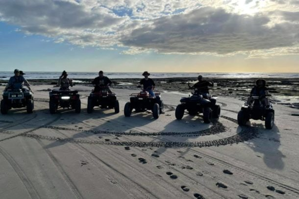 Riding ATVs on the coastline and through the beautiful Island of Ometepe in Nicaragua