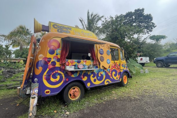 Colorful food truck located in Hawaii