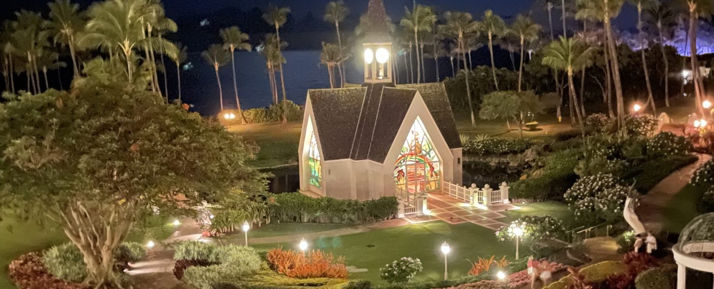 Beautiful church on the Grand Wailea property